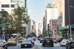 NEW YORK CITY - CIRCA 2017: Rush hour traffic backs up along 3rd Royalty Free Stock Photography