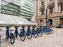 New York City citi bike station in front of the National Museum Royalty Free Stock Images