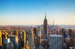 New York City cityscape Arkivbilder