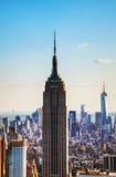 New York City cityscape med byggnad för väldetillstånd Royaltyfri Foto