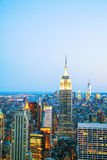 New York City cityscape in the night Royalty Free Stock Images
