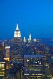 New York City cityscape in the night Stock Photo