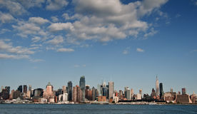 New york city cityscape over hudson river Royalty Free Stock Image