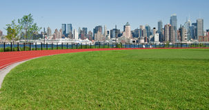 New york city cityscape over hudson river Royalty Free Stock Images