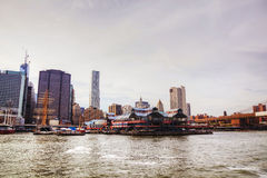 New York City cityscape panorama Royalty Free Stock Images
