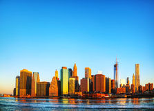 New York City cityscape panorama Stock Photography