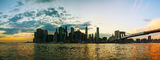 New York City cityscape panorama Stock Photos