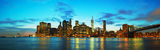 New York City cityscape at sunset Stock Photo