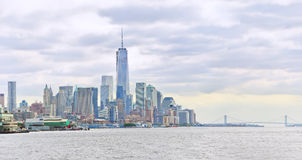 New York City in a cloudy day. Stock Image