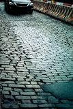 New York City Cobblestone Street Royalty Free Stock Photo