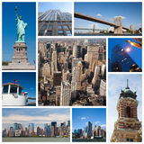 New York city collage. New York city landmarks and tourist destinations collage Stock Photography