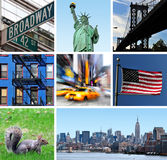 New York City Collage. Travel USA Collage postcard background Royalty Free Stock Photo