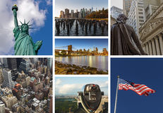 New York City collage Royalty Free Stock Photo