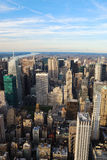 New York City con el río de Hudson imágenes de archivo libres de regalías