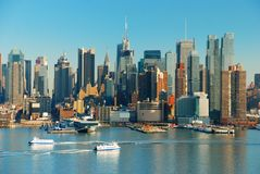 New York City con i grattacieli Immagini Stock