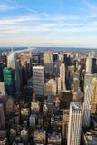 New York City con il fiume di Hudson immagini stock libere da diritti