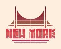 New York City Conceito criativo do cartaz da tipografia ilustração stock