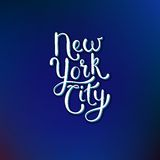 New York City Concept on Blue Violet Background Stock Image