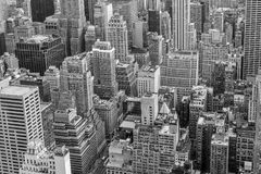 New York City concrete jungle Black royalty free stock image
