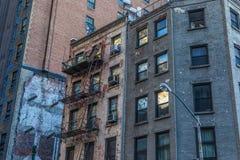 New York City - construções históricas em Manhattan fotografia de stock