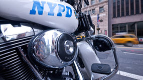 New York City Cop Bike Stock Photos