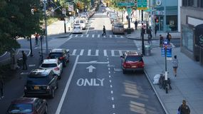 New York City - Crescent St Arkivbild
