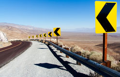 New York City - Crossing with traffic lights. Death Valley National Park: Sharp Curve Stock Image