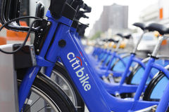 New York City cykel som delar stationen Royaltyfria Foton