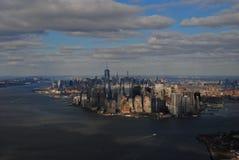 New York City da sopra Immagini Stock Libere da Diritti
