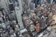 New York City da sopra fotografia stock libera da diritti