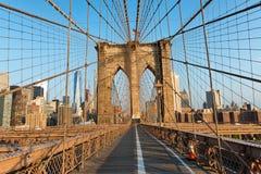 New York City dal ponte di Brooklyn Fotografie Stock Libere da Diritti