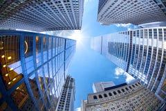 New York City, das oben schaut stockfotografie
