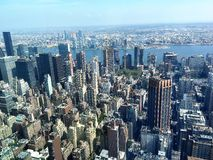 New York City day view. View on New York from the top of Empire State building Stock Images