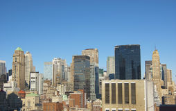 New York City Daytime Skyline Panoramic Royalty Free Stock Image