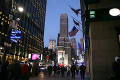 NEW YORK CITY - 31 DE DEZEMBRO: Noite em características de NY com Madison Sq imagem de stock royalty free