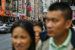 NEW YORK CITY - 16 DE JUNIO: Chinatown con una población estimada Fotografía de archivo libre de regalías
