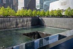 New York City - 10 de maio de 2015: World Trade Center memorável Fotos de Stock