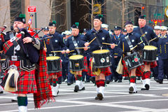 Desfile NYC del día del St. Patricks Imagenes de archivo