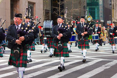 Desfile NYC del día del St. Patricks Fotografía de archivo libre de regalías