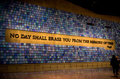 New York City 9/11 de museu Fotografia de Stock