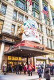 Macy`s Department Store at Herald Square in Manhattan with holiday window displays royalty free stock photo