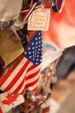 NEW YORK CITY - December 25, 2010: 911 minnesmärke, Manhattan på December 25, 2010 i New York City, USA Arkivfoton