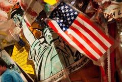 NEW YORK CITY - December 25, 2010: Minnesmärke 911 på December 25, 2010 i New York City, USA Arkivfoton