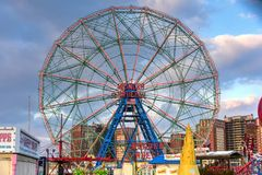 Wonder Wheel - Coney Island. New York City - December 10, 2017: Wonder Wheel in Luna Park. Its an amusement park in Coney Island opened on May 29, 2010 at the Stock Photo
