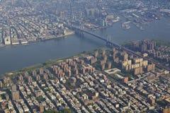 New York City del aire Imagen de archivo libre de regalías