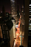New York City in der Nacht Lizenzfreies Stockbild