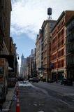 New York City después de la tormenta de la nieve Imagen de archivo