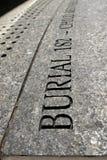 New York City: Detalhe africano da inscrição da terra de enterro Fotografia de Stock Royalty Free