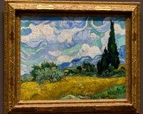 New York City die getroffene - Van Gogh - Iris u. die Rosen stockbilder