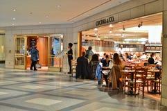 New York City Dining Restaurant Café People Eating Food Rockefeller Center Plaza Manhattan City Trends stock image